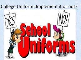 persuasive speech college uniform implement it or not