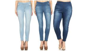 Up To 64 Off On Jvini High Waist Jeggings W Plus Groupon