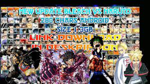 BLEACH VS NARUTO V3.3 MOD UPDATE 280 CHARS 2019 ANDROID & PC {DOWNLOAD} -
