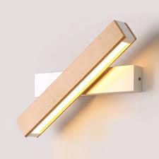light wooden reading wall lamp