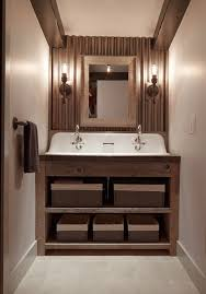 corrugated metal ceiling basement bathroom rustic with reclaimed ceiling sconces sconces