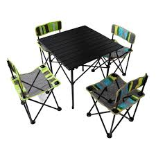 com yodo 5 in 1 foldable kids picnic table and chairs set for family outdoor camping beach party stripe patio lawn garden