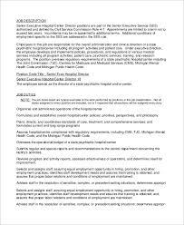 senior executive director job description service director job description