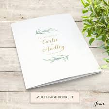 Booklet Program Template Greenery Booklet Wedding Program Template Order Of Service Booklet Printable Wedding Program Template Diy Wedding Edit In Word Or Pages