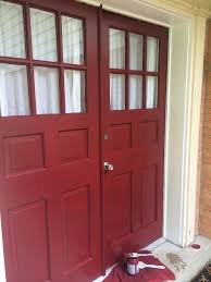 painting front doorPaint Your Front Door For a Punch of Color  Thrift Diving Blog