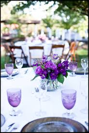 Contemporary Wedding Table Accessories And Decoration Using Cute Wedding  Centerpiece : Outstanding Purple And White Wedding