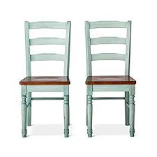 mulberry distressed 2 tone dining chair teal set of 2