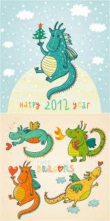 funny cartoon dragons 2016 vector