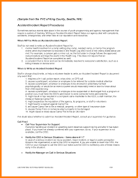 Sample Of Accident Report Writing And 10 How To Write An Incident