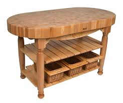 natural butcher block kitchen table