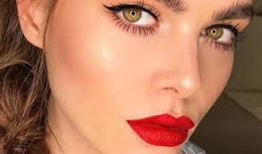 red lipstick beauty tips makeup goals