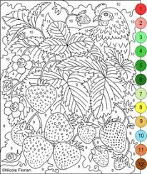 Small Picture Printable Color by Number for Adults paint by number Pinterest