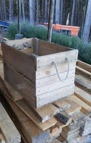 hand crafted rustic wooden crates firewood boxes