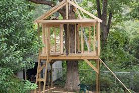 Free Tree House Plans Single Treehouse Basic Simple Standing