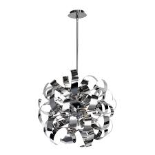 ac600ch bel air 5 light chrome pendant