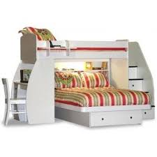 bunk beds with desk and stairs.  With Berg Furniture Sierra Twin Over Full Loft Bed Desk Stairs And Bunk Beds With