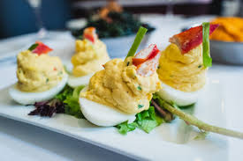 ve had our lobster deviled eggs before ...