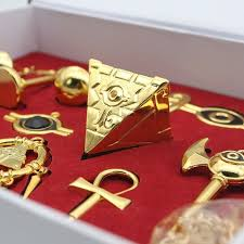 8pcs set yu gi oh millennium items puzzle necklace keychain pendant in box hot 4 4 of 8 see more