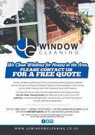 modern elegant flyer design for jg window cleaning by brian ellis flyer design by brian ellis for jg window cleaning flyer design design 10657215