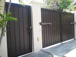 Attractive Modern House Gates And Fences Designs Ideas Also Main