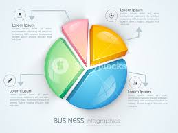 3d Pie Chart Template Glossy 3d Pie Chart Infographic Template Royalty Free Stock