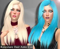 Sims 4 Hairs ~ Genius6613: Anto`s Eve hair retextured | Hairstyle gallery,  Sims 4, Hair
