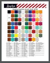 Angelus Leather 84 Paint 1oz Colors Assort Custom