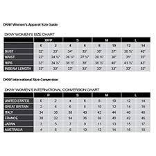 Dkny Size Chart Women S Dkny Womens Jacquard Skinny Pants Black Ivory 4 At Amazon