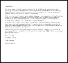 Dr Letter Template Doctor Recommendation Letter Recommendation Letters