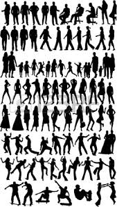 Vectors Silhouettes People Silhouettes Work With Vectors Silhouette Woman Business