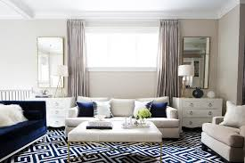 navy living room accents