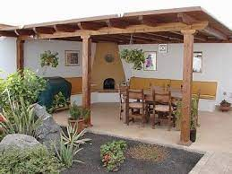 covered entertaining area outdoor bbq