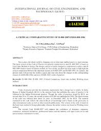 Design Of Steel Beams As Per Is 800 2007 Pdf A Critical Comparative Study Of Is 800 2007and Is 800 1984