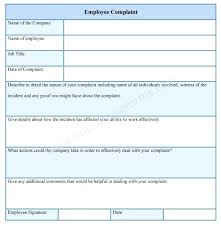 Employee Grievance Form Grievance Form Template Enjoyathome Co
