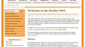 Purdue Owl Purdue Online Writing Lab Review For Teachers Common Sense Education