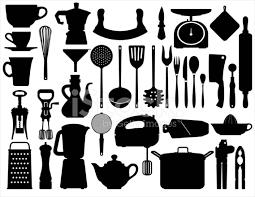 kitchen utensils silhouette vector free. Exellent Vector Kitchen Tools Silhouettes Throughout Utensils Silhouette Vector Free I
