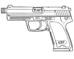 Small Picture Gun Print Out Coloring Coloring Pages
