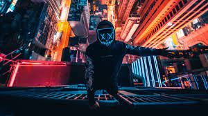 Mask, neon, person, photography, hd, 4k ...