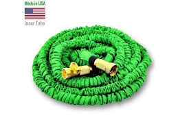 world s strongest expandable garden hose with made in usa inner material free shut off valve 75 ft green