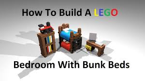 Lego Bedroom Furniture How To Build A Lego Bedroom With Bunk Beds Custom Moc Instructions