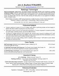Radiologic Technologist Resume Templates Unique Medical Lab ...