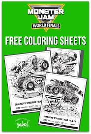Free Printable Monster Jam Coloring Sheets Including Grave Digger