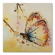 Living Room Oil Paintings Handmade Modern Simple Decorative Butterfly Picture Oil Painting