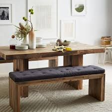 cool modern dining room table with bench with emmerson reclaimed wood round dining table west elm
