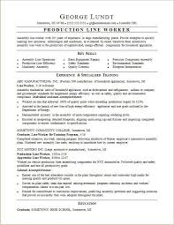 Assembly Line Worker Resume Waiter Resume Examples For Letters Job