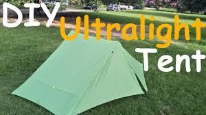 Diy Tent Diy Ultralight Tent Myog Project Youtube