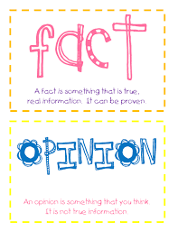 facts vs opinions examples games activities video lesson  an example of a reading passage fact opinion question is