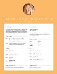 Actress Sample Resumes Extraordinary Stage And Film Actress Resume Templates By Canva