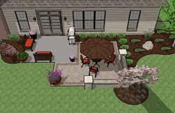 square patio designs. Simple Square Brick Patio Addition Intended Square Designs O