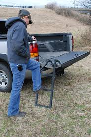 TraXion Pickup Truck Tailgate Step Ladder Easily Removed Folds Out ...